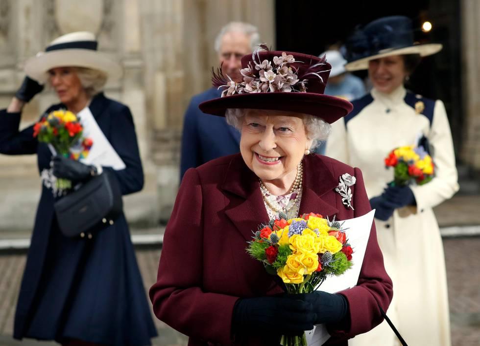 Bildet viser dronning Elizabeth