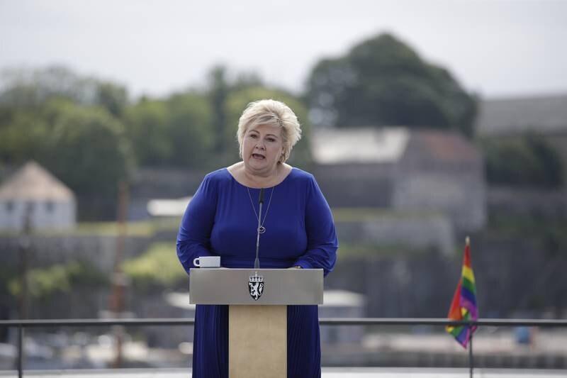 Statsminister Erna Solberg (H) oppsummerte det siste halve året fredag. Foto: Hanna Johre / NTB