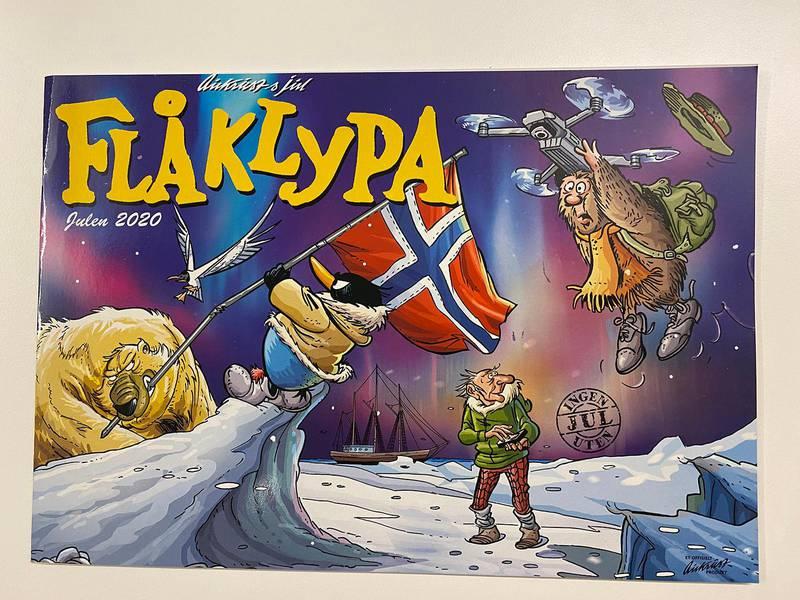 Bildet viser forsiden på heftet om Flåklypa.