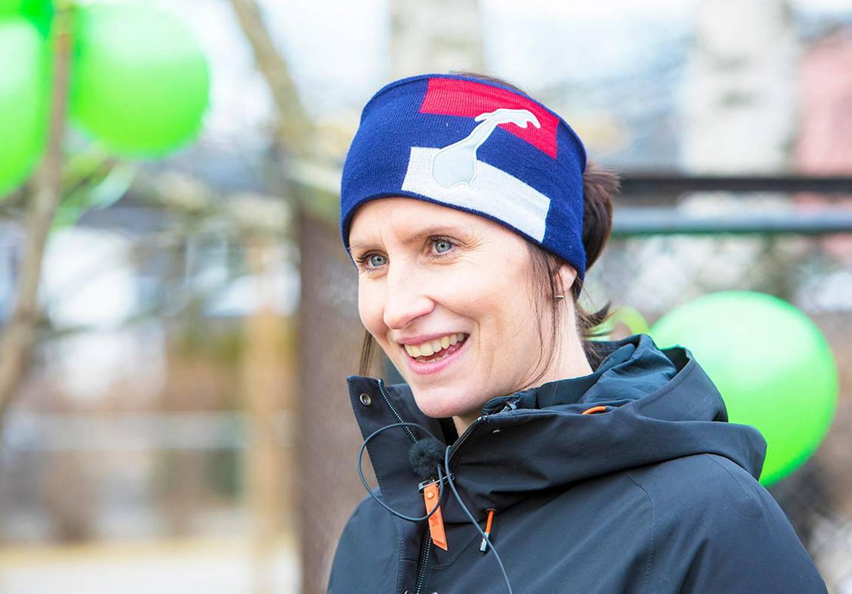 Bildet er av den tidligere skiløperen Marit Bjørgen.