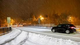 Uhell i trafikken etter snøfall