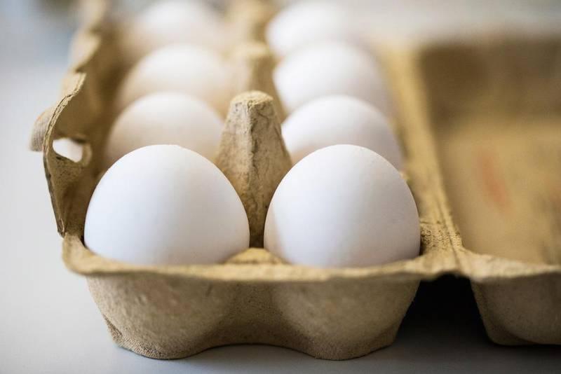 Bildet viser en pakke med egg.