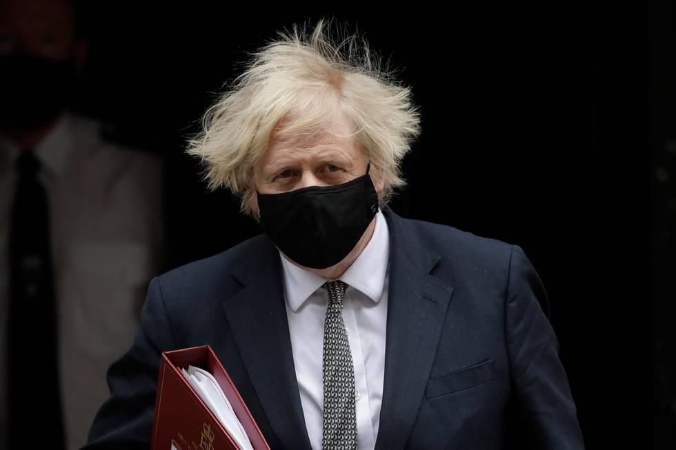 Bildet viser statsminister i England, Boris Johnson.