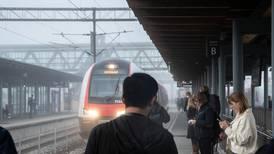 Togene står stille rundt Oslo