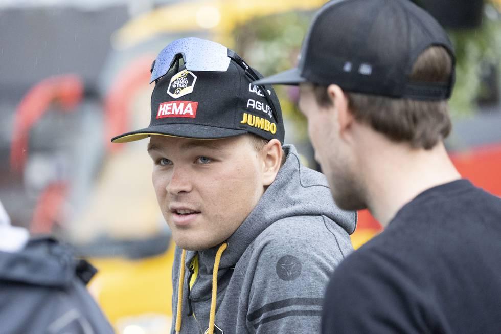 Tobias Foss risikerer å gå glipp av sykkel-VM etter å ha pådratt seg flere skader i en velt. Foto: Tor Erik Schrøder / NTB