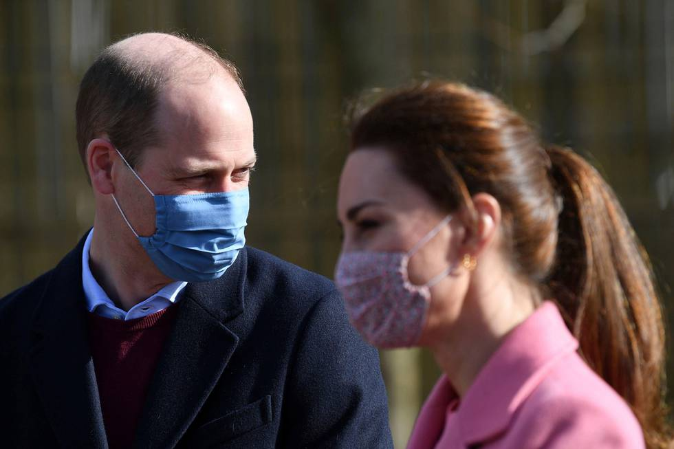 Bildet viser prins William og Kate