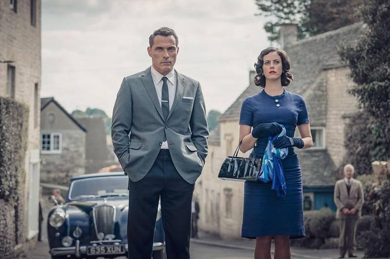 Bildet viser en scene fra TV 2 påskekrim «Agatha Christie: Den fjerde rytter».