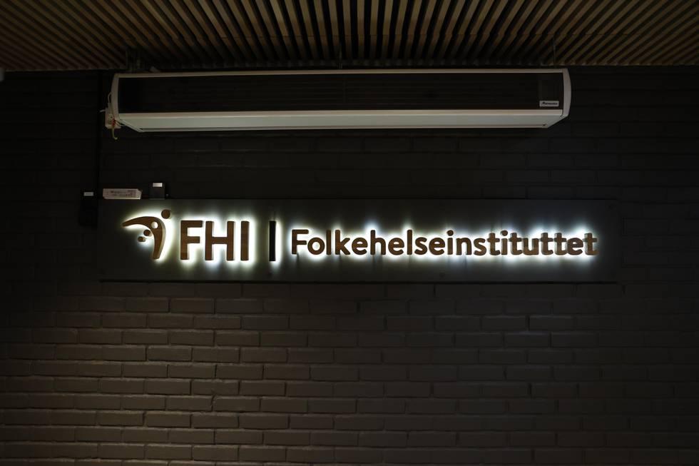 Bildet viser logoen til Folkehelseinstituttet.
