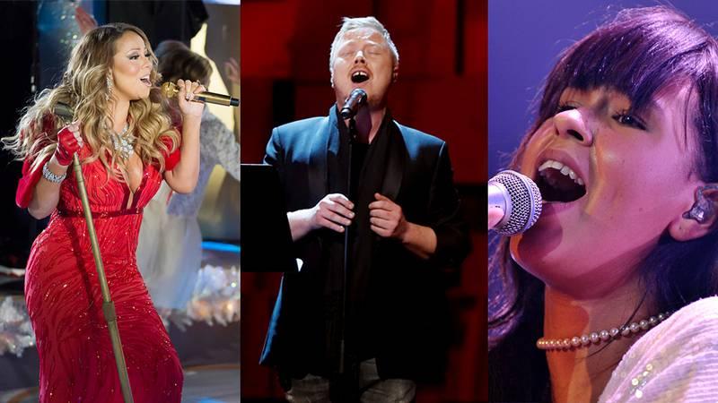 POPULÆRE: Mariah Carey, Kurt Nilsen og Maria Mena syngar sanger nordmenn vil høre før jul.