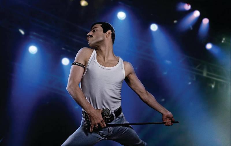 Bildet viser en scene fra filmen «Bohemian Rhapsody».