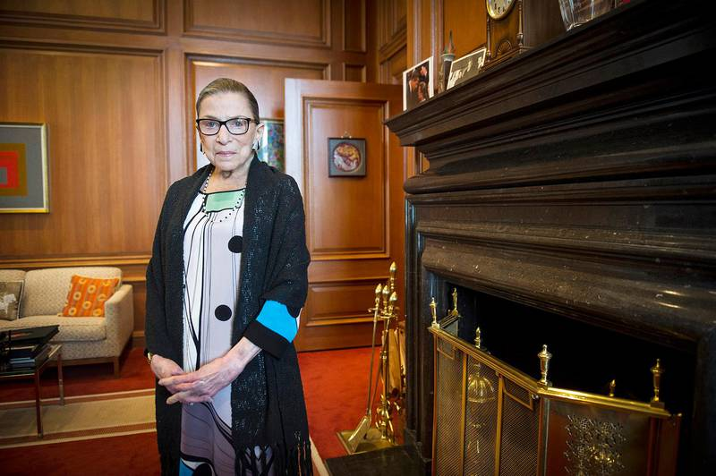 Bildet viser Ruth Bader Ginsburg i 2014.