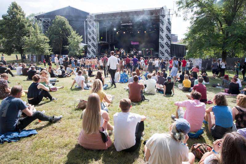 Bildet viser Øya-festivalen.