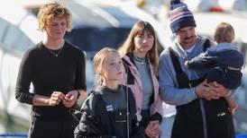 Greta Thunberg har nådd land