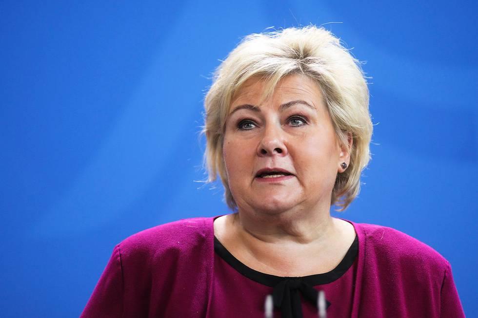 Bildet viser statsminister Erna Solberg.
