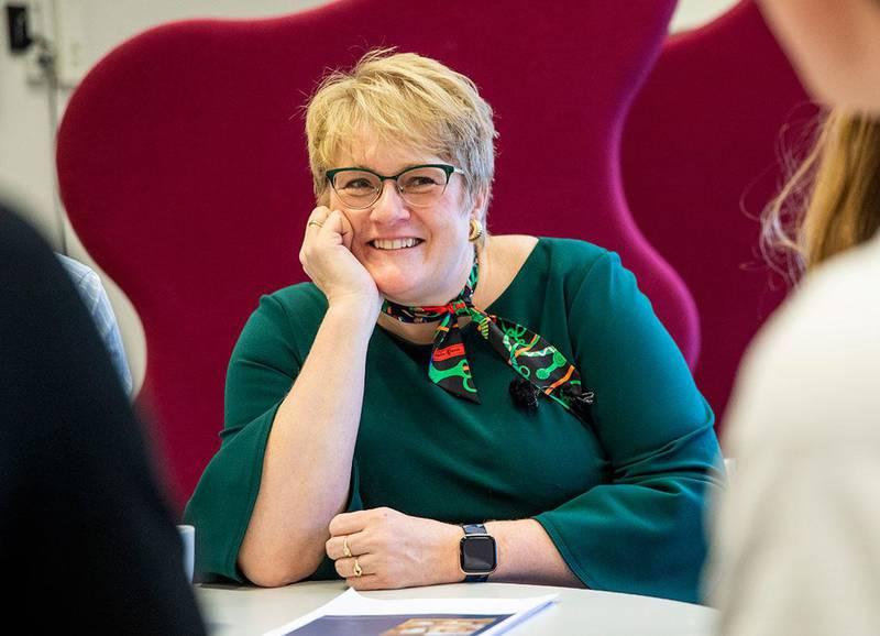 Bildet viser Trine Skei Grande. Hun slutter etter ti år som leder for Venstre.