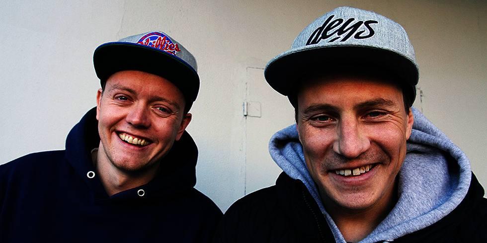 Bildet viser Jaa9 (til venstre) og OnklP. De gir ut ny plate sammen.