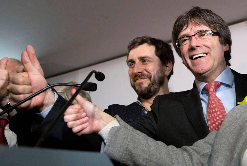Bildet viser Carles Puigdemont. Han var tidligere president i Catalonia i Spania.