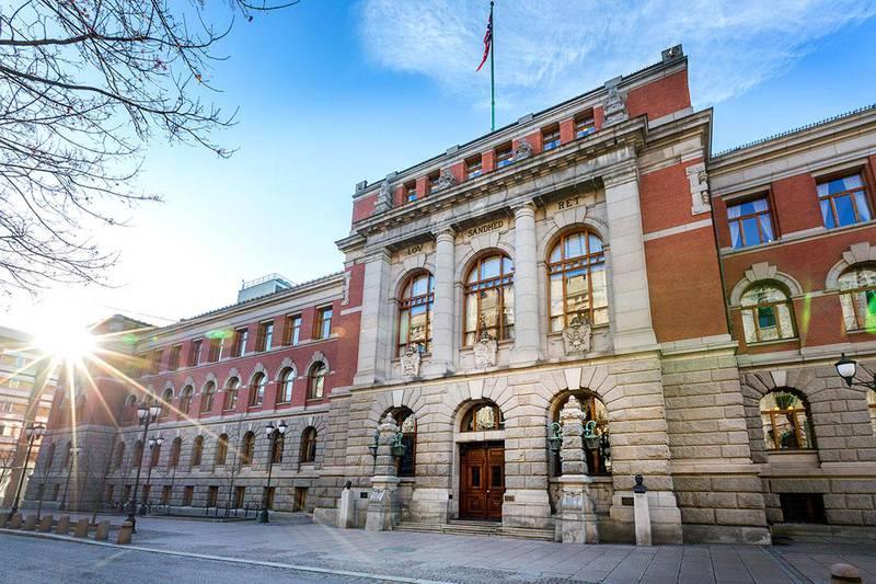Bildet viser bygningen til Høyesterett.