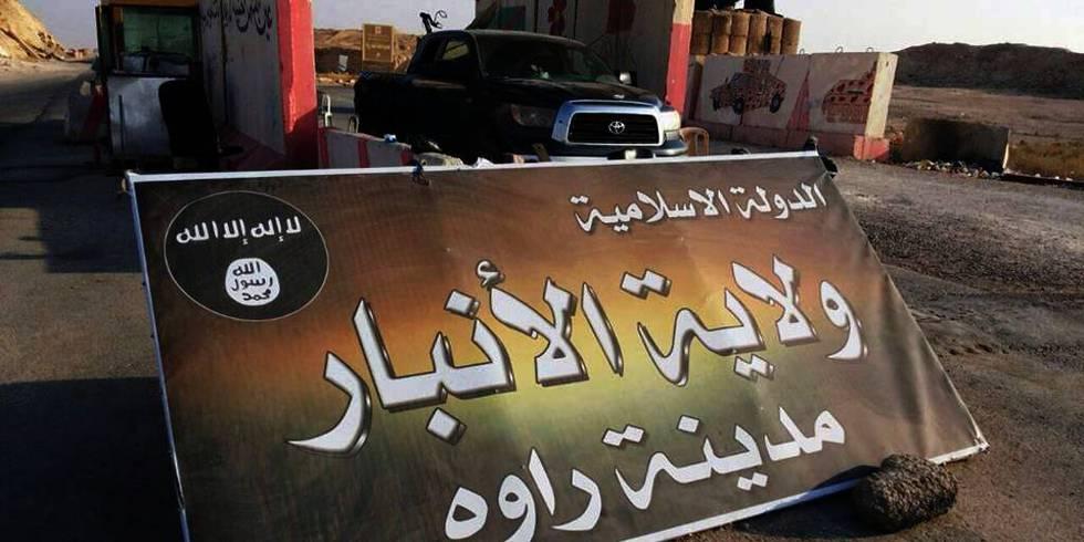 <strong>FENGSLET:</strong>To menn er siktet for terror. Politiet tror de planla å dra ned og kjempe med Den islamske staten (IS) i Syria og Irak. Her er en plakat til IS.