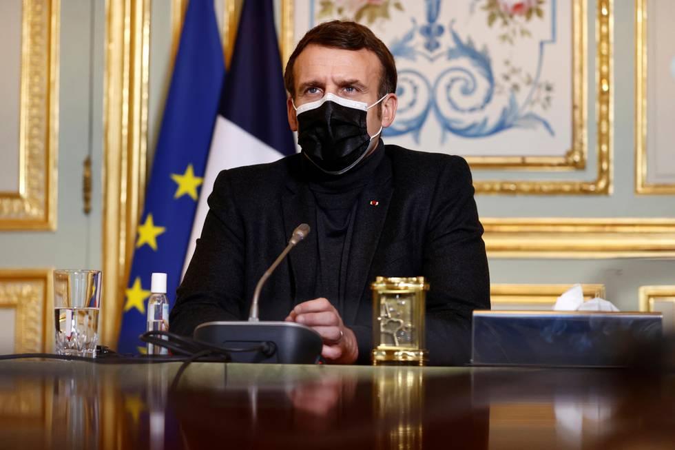 Bildet viser president Emmanuel Macron.