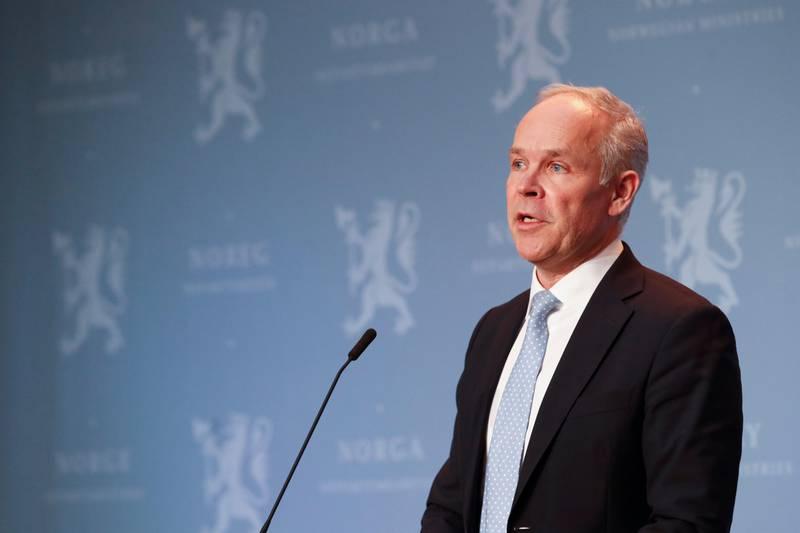 Bildet er av finansminister Jan Tore Sanner.