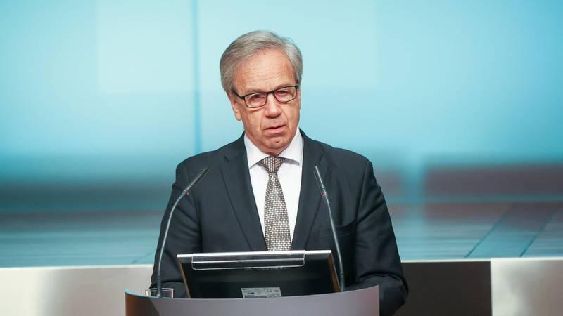 Bildet viser Øystein Olsen, som er sentralbanksjef.
