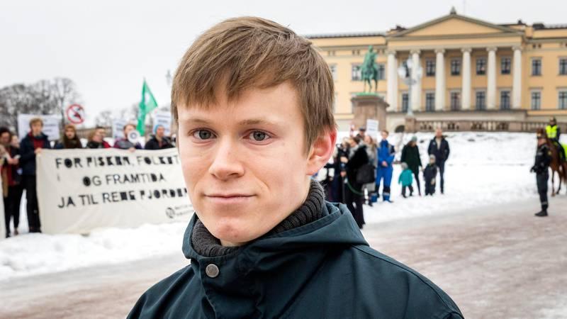 Bildet viser lederen i Natur og Ungdom, Gauta Eiterjord.