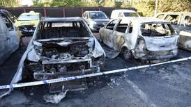 Eksplosjon og bilbranner i Sverige