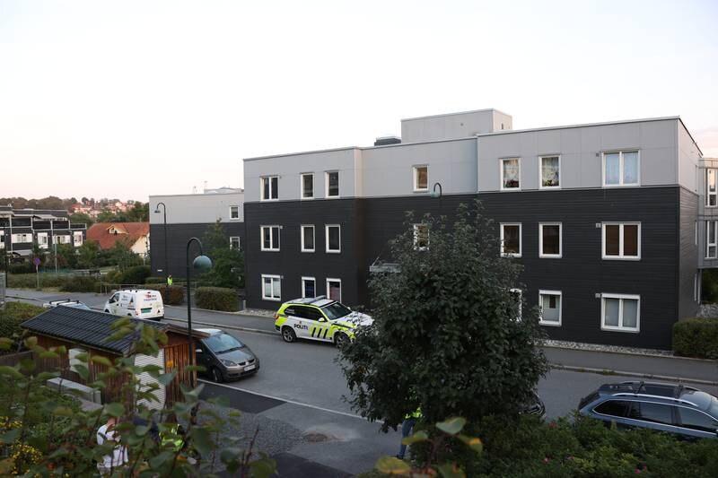 Aktor mener 81-åringen, som er tiltalt for å ha drept kona i boligen på Glassverket i Moss 18. august i fjor, må dømmes til fengsel i 13 år og et halvt år. Foto: Ørn E. Borgen / NTB