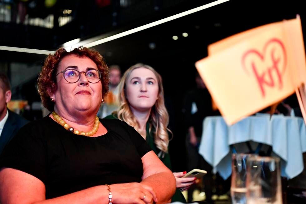 Nestleder Olaug Bollestad på Kristelig Folkepartis valgvake på Vulkan Arena under stortingsvalget 2021. Foto: Naina Helén Jåma / NTB