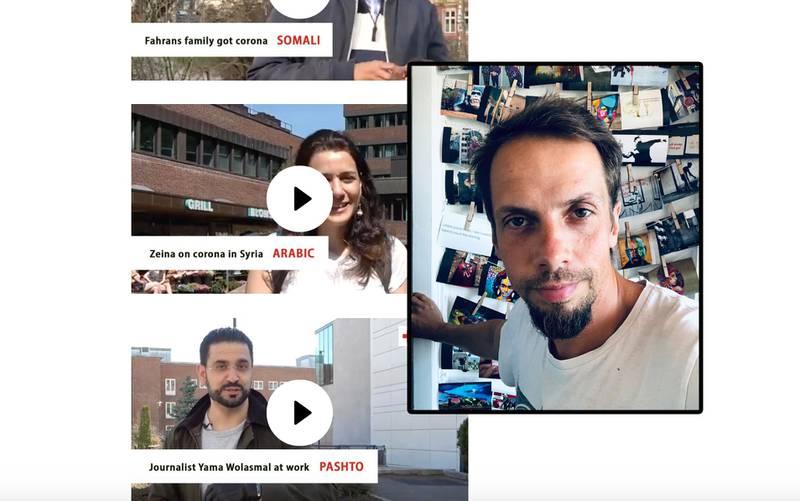 POLSK: Michal Piskorz kommer fra Polen. Han sier det er enklest å få med seg korona-reglene dersom du kan norsk. Røde Kors har laget videoer med informasjon på ulike språk.