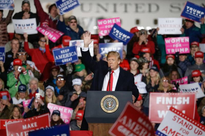 Bildet viser president Donald Trump.