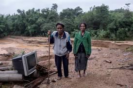 Tyfon herjer i Vietnam