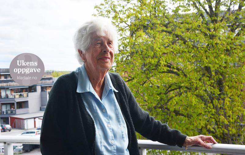 MINNER: Gerd Tvinnereim måtte flykte til Sverige under krigen. Hun husker godt hva som skjedde i krigsårene og da freden kom.