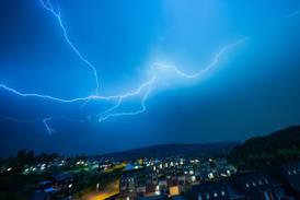 Nesten 11.000 lyn-nedslag på Østlandet