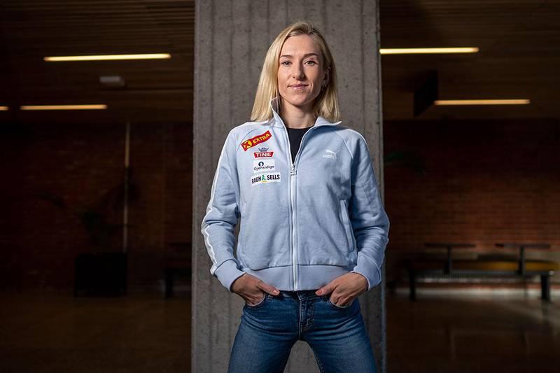 Bildet viser løperen Karoline Bjerkeli Grøvdal. Hun kom sterkt tilbake i høst. Det var etter en lang periode med skade.