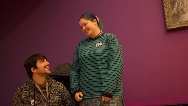 Bildet viser Aurora Kobernus og Amir Hashani.