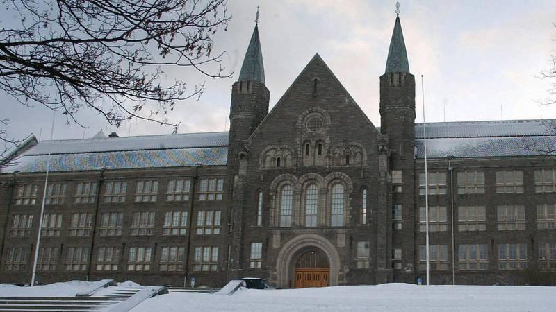 Bildet viser bygningen til universitetet NTNU.