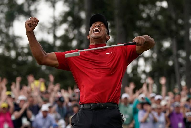 Bildet viser golfspilleren Tiger Woods.