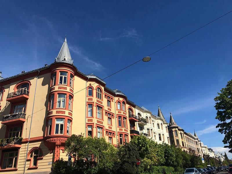 Bildet viser klassiske bygårder på Frogner.