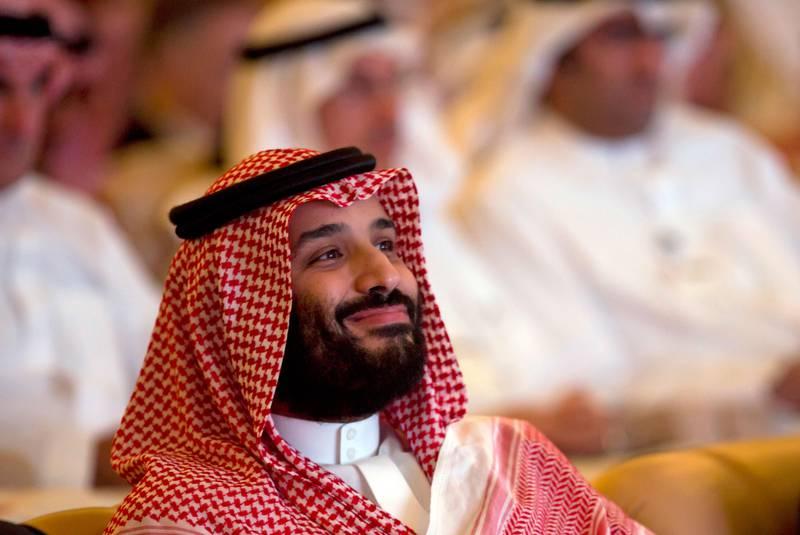 Bildet viser kronprins Mohammed bin Salman som smiler.