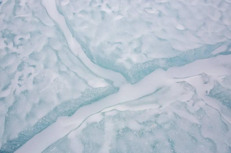 Bildet viser is på Antarktis.