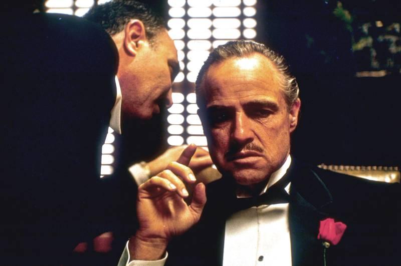 Bildet viser Don Vito Corleone i den første «Gudfaren»-filmen.