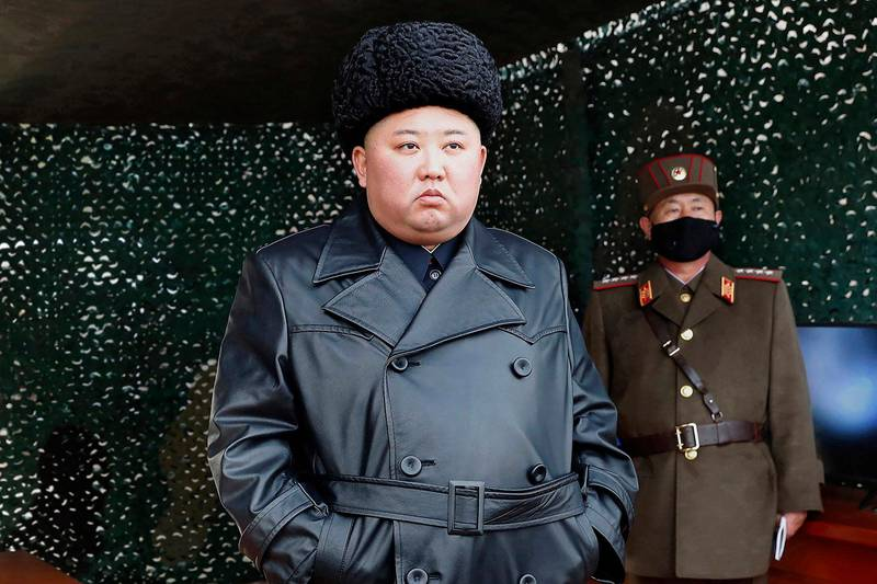 Bildet viser Kim Jong-un.