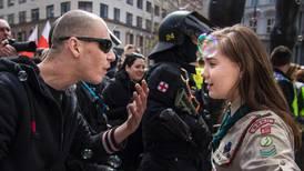 Protesterte mot nynazister