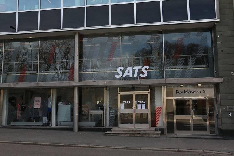 Bildet viser et stengt treningssenter i Oslo.